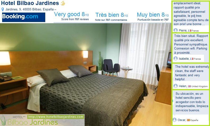 Opiniones sobre hotel bilbao jardines en booking for Hotel jardines de bilbao
